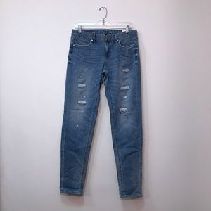 NWT WHBM The Girlfriend Jeans Distressed 6 Long